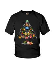 Hockey Christmas Flamingo Youth T-Shirt thumbnail