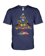 Hockey Christmas Flamingo V-Neck T-Shirt thumbnail