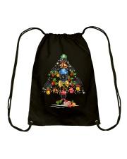 Hockey Christmas Flamingo Drawstring Bag thumbnail