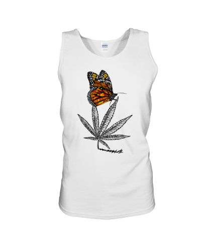 Weed And Butterfly