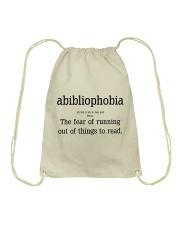 Book Noun Drawstring Bag thumbnail