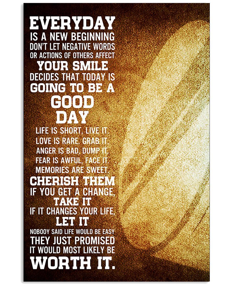Hockey Everyday Is A New Beginning 11x17 Poster