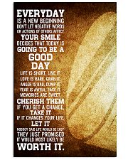 Hockey Everyday Is A New Beginning 11x17 Poster front