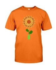 Canoeing Sunflower Classic T-Shirt front