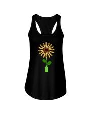 Canoeing Sunflower Ladies Flowy Tank thumbnail