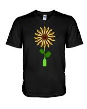 Canoeing Sunflower V-Neck T-Shirt thumbnail