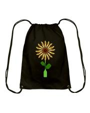 Canoeing Sunflower Drawstring Bag thumbnail