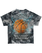 Basketball I Am The Storm All-over T-Shirt back