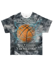 Basketball I Am The Storm All-over T-Shirt front