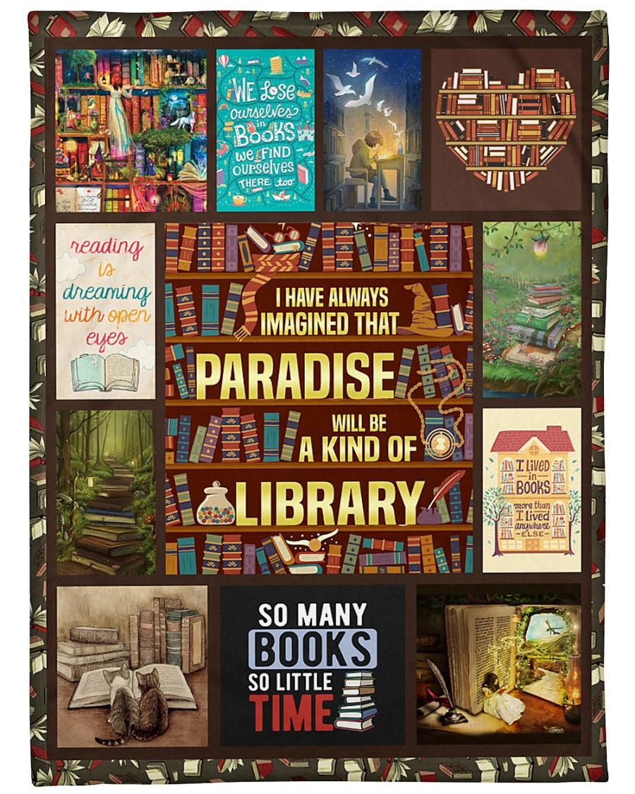 "Books I Have Always Imagined Large Fleece Blanket - 60"" x 80"""