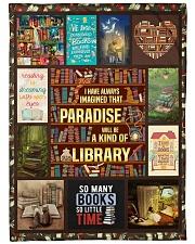 "Books I Have Always Imagined Large Fleece Blanket - 60"" x 80"" front"