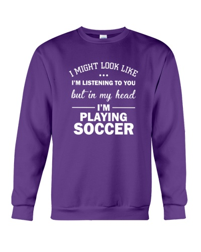 I'm playing soccer