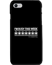 Baseball I'm Busy This Week Phone Case thumbnail
