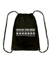 Baseball I'm Busy This Week Drawstring Bag thumbnail