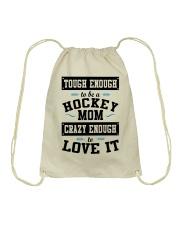 Hockey Mom Drawstring Bag thumbnail