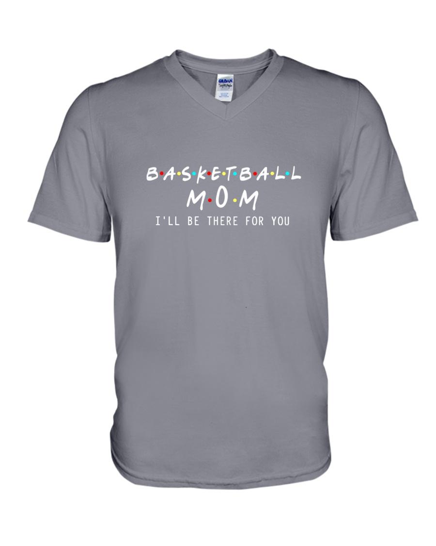 Basketball Mom V-Neck T-Shirt