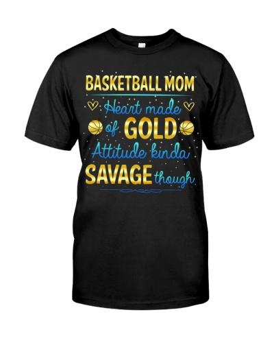 Basketball Heart Made Gold