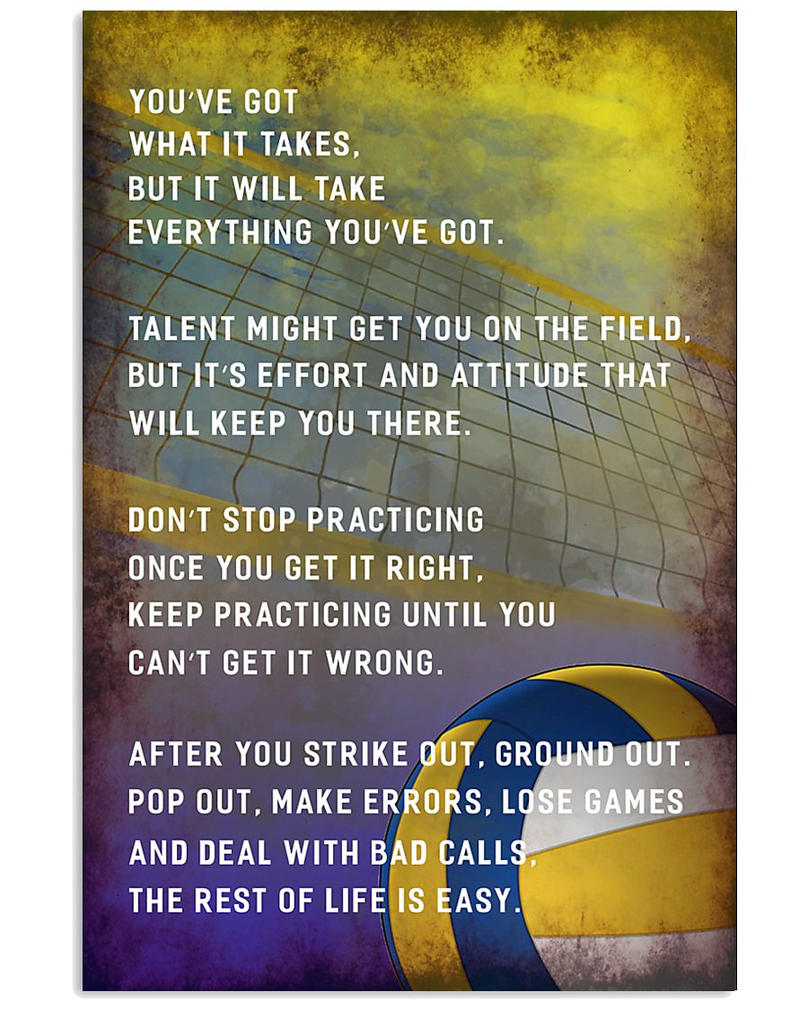 Volleyball You've Got What It Takes 11x17 Poster