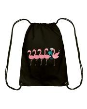 Scuba diving Flamingo Drawstring Bag thumbnail