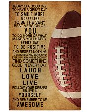 Football Today Is A Good Day 11x17 Poster front