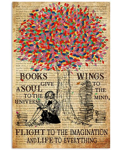 Books Give A Soul Poster