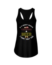 Camping and Beer Ladies Flowy Tank tile