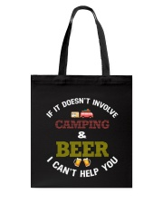 Camping and Beer Tote Bag tile