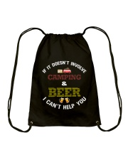 Camping and Beer Drawstring Bag tile