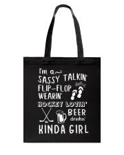 Hockey Loving Beer Drinking Tote Bag thumbnail