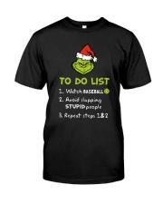 To Do List Watch Baseball  Classic T-Shirt thumbnail