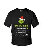 To Do List Watch Baseball  Youth T-Shirt thumbnail
