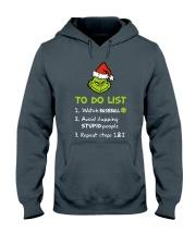 To Do List Watch Baseball  Hooded Sweatshirt front