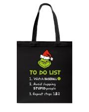 To Do List Watch Baseball  Tote Bag thumbnail