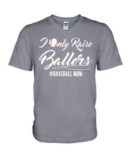 Baseball- I only raise ballers V-Neck T-Shirt thumbnail
