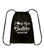 Baseball- I only raise ballers Drawstring Bag thumbnail