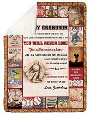 "Baseball To My Grandson Large Sherpa Fleece Blanket - 60"" x 80"" thumbnail"