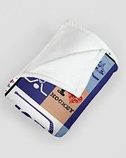 "Hockey Funny Blanket Hockey Smile Graphic Design Large Fleece Blanket - 60"" x 80"" aos-coral-fleece-blanket-60x80-lifestyle-front-07"