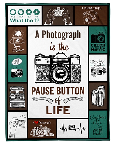 Photography Funny Pause Button Graphic Design