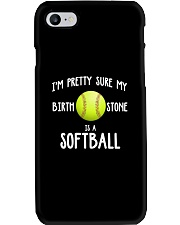 I'm pretty sure my birth stone is a softball Phone Case thumbnail