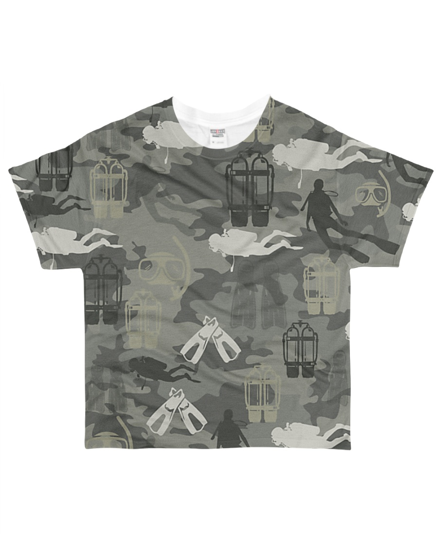 Scuba Diving Camouflage All-over T-Shirt showcase