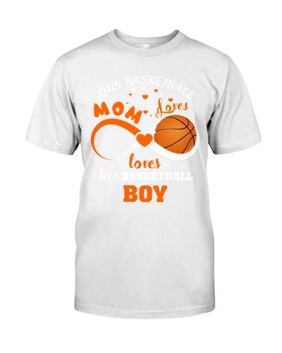 This Baskeball Mom Loves- Loves Her Basketball Boy