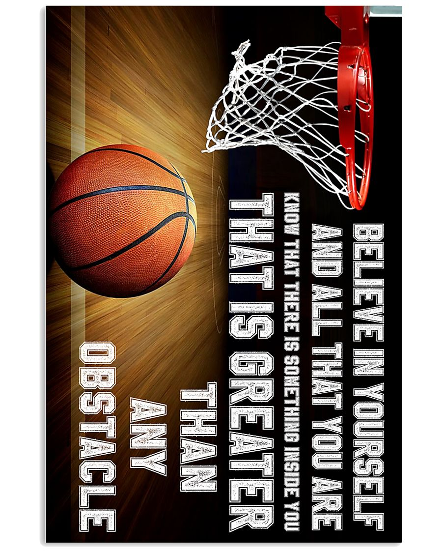 Believe In Yourself Basketball  11x17 Poster