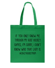 Hockey If You Only Know Me Tote Bag thumbnail