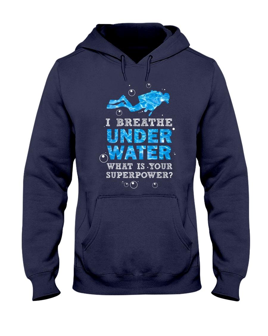 Scuba Diving - I Breathe Under Water Hooded Sweatshirt
