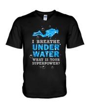 Scuba Diving - I Breathe Under Water V-Neck T-Shirt thumbnail