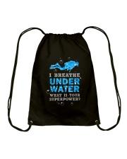 Scuba Diving - I Breathe Under Water Drawstring Bag thumbnail