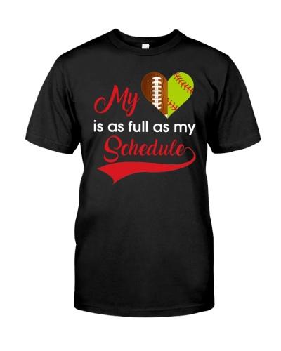 My softball is as full as my shcedule