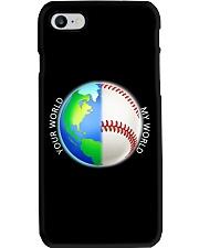 Baseball Your World My World Phone Case thumbnail