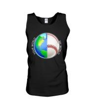 Baseball Your World My World Unisex Tank thumbnail