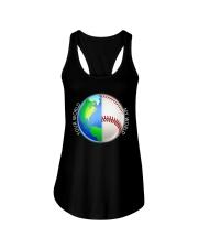 Baseball Your World My World Ladies Flowy Tank thumbnail